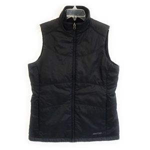 MARMOT Black Reversible Vest Quilted or Fuzzy M